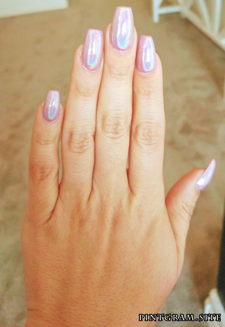 My Pink Unicorn Holographic Nails Polish Nails Gilbert Az Holographic Nails Holographic Nails Acrylic Holo Nails