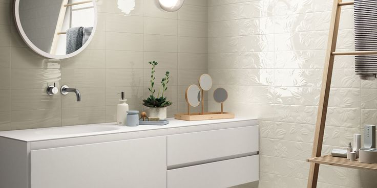 WAVE Tiles, bathroom modern ceramic double-fired wall tile [AM WAVE 3]
