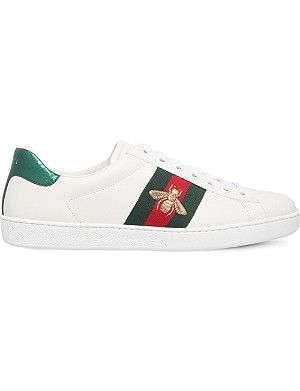3bda697b439 GUCCI - New Ace star-detail leather trainers