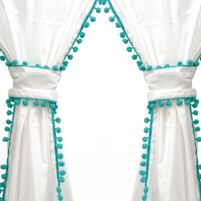 1000 Ideas About Pom Pom Curtains On Pinterest Curtains Cheap Curtain Rods And Ikea Curtains