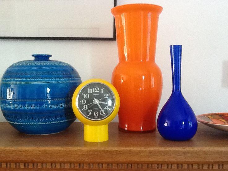My lovely new blue vase, thanks p and v
