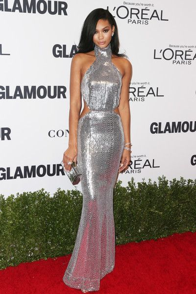 Chanel Iman in KaufmanFranco - Best Dressed at the 2016 Glamour Women of the Year Awards - Photos