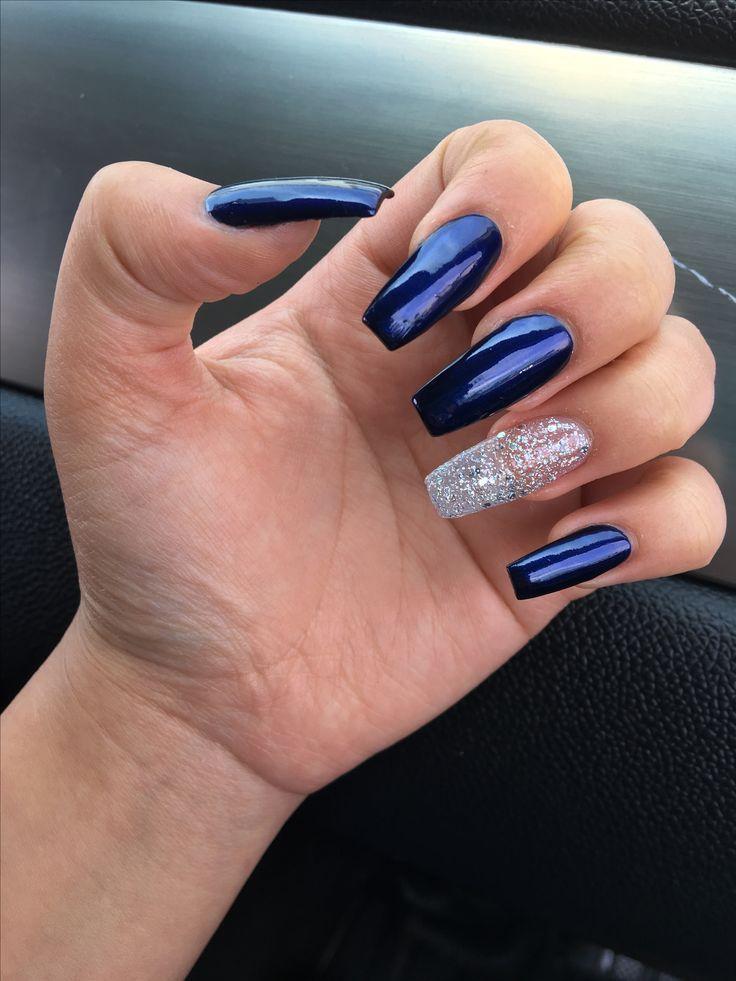 Blue Nail Polish Manicure Designs: 25+ Best Ideas About Navy Blue Nails On Pinterest