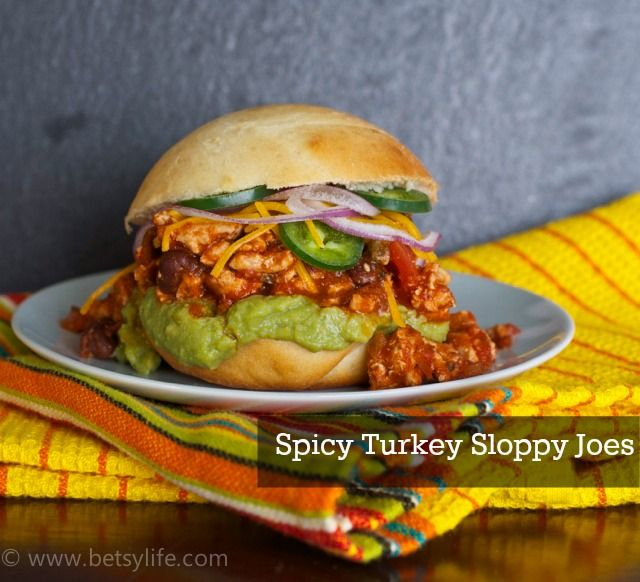 Check out Spicy Turkey Sloppy Joes. It's so easy to make! | Guacamole ...