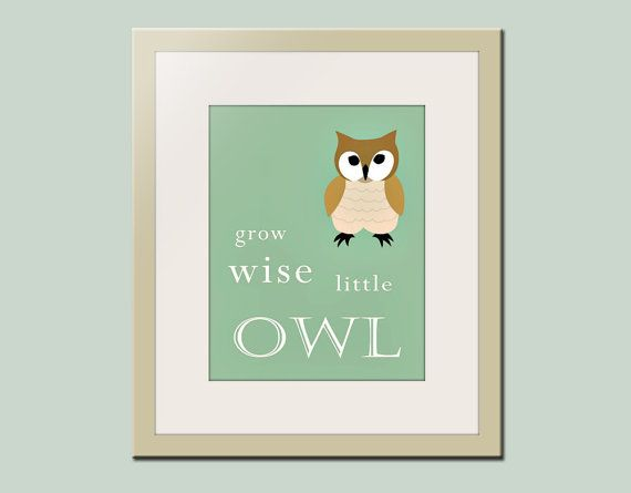 Owl Wall Decor for Nursery