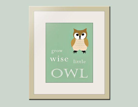 Owl Wall Decor for Nursery
