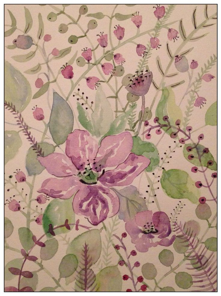 Clematis and berries  By rachael dunn