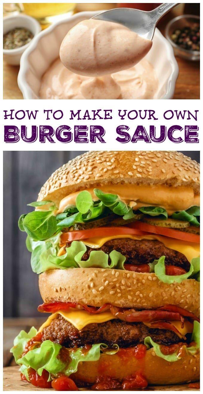 Homemade Burger Sauce Recipe Recipe Burger Sauce Homemade Burgers Easy Homemade Burgers
