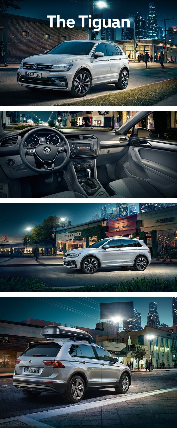 Excited when you step inside. Relaxed when you arrive. The new Volkswagen Tiguan is equipped with intelligent technologies and optional driver assistances systems for accident prevention and to assist you in critical driving situations. These innovative technologies will give you a supremely confident driving feeling.