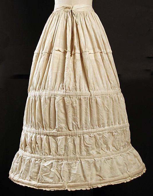 Crinoline  Date: 1840s Culture: American or European