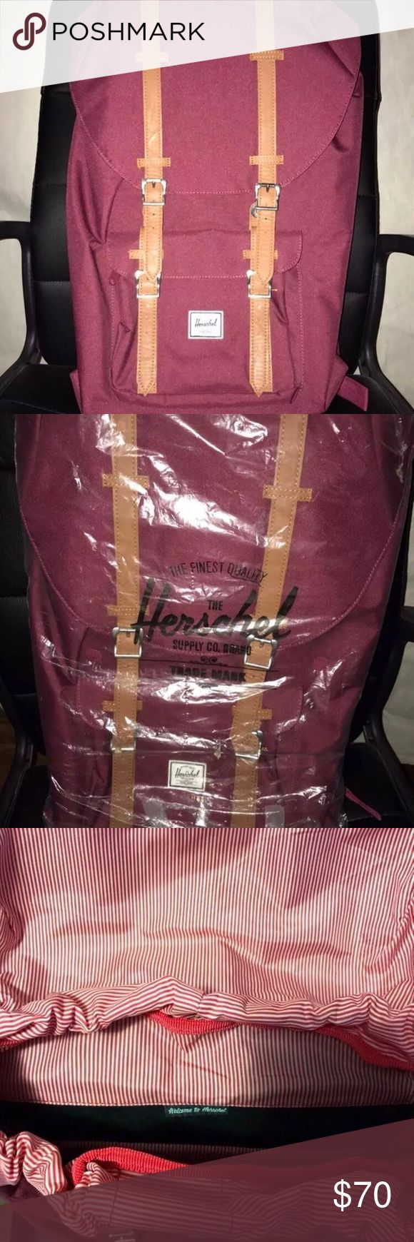 Hershel Supply Little America Like new condition. Windsor wine color. Used once just for a trip. It retails for around $100. Price is negotiable, but please no low ballers. Thanks! Herschel Supply Company Bags Backpacks