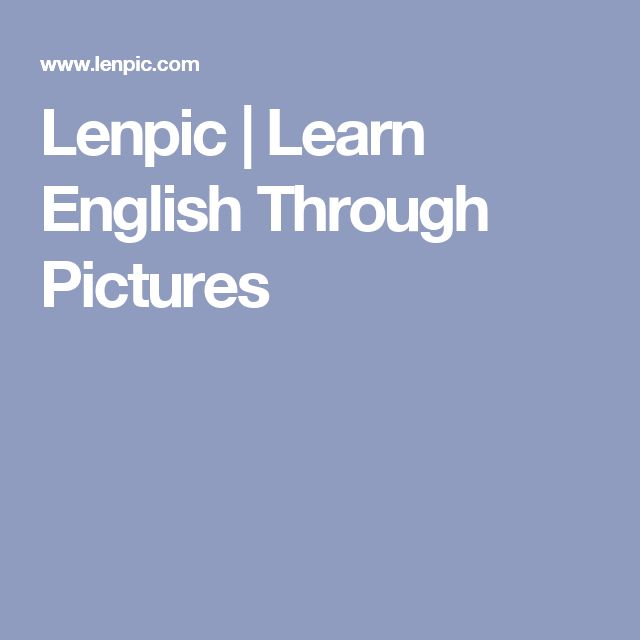 Lenpic | Learn English Through Pictures