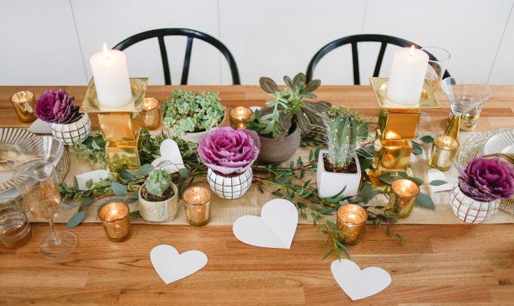 Golden V-Day: Setting A Non-Pink Romantic Dinner Table - Hommemaker - Orlando Soria (photo by Tessa Neustadt)