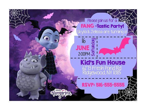 Invitacion Vampirina En 2020 Invitaciones De Cumpleaños