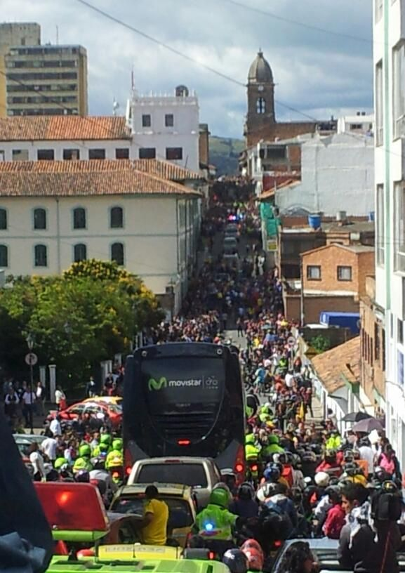 Twitter / AlcaldiaTunja: Histórico! #Tunja celebrates the return of Nairo Quintana