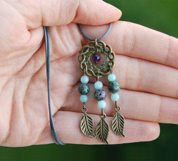 Zoisite de rubíes amatista collar de jadeíta por MyFantasies