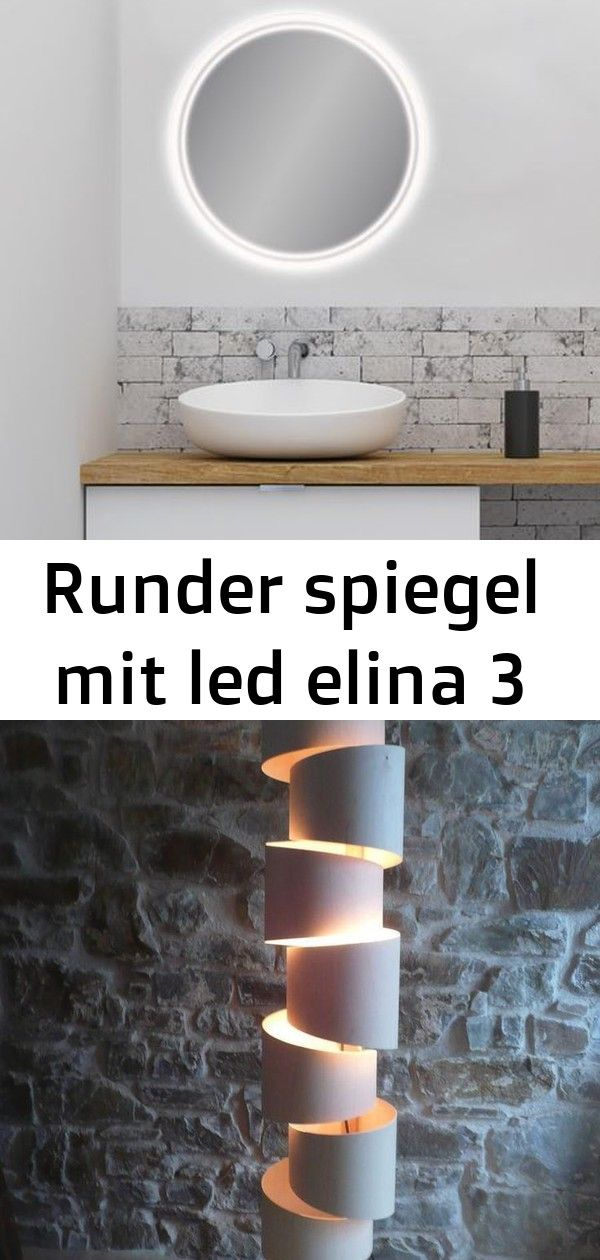 Runder Spiegel Mit Led Elina 3 Cool Lamps Mirror Lamp