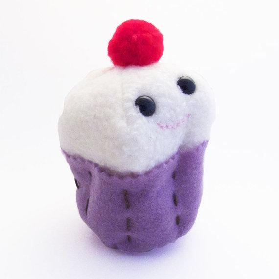 cute plush chocolate cupcake - photo #5