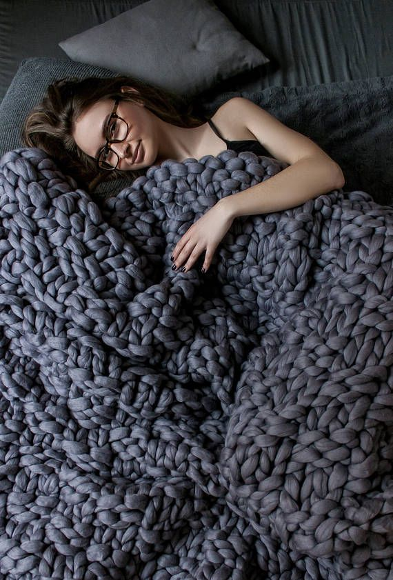 This super chunky knit blanket is perfect for everyone. It is really big and very beautiful! This blanket is extremely soft and durable.This blanket will keep you cozy when the weather turns cold, and provides a warm decorative touch to any room in your house.100% Australian merino wool