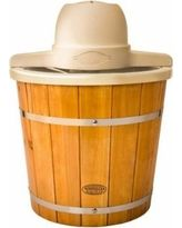 Nostalgia Products Group Electric Old Fashioned Ice Cream Maker, 4-Quart, Brown