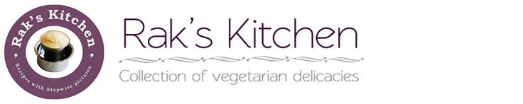 Rak's Kitchen.. all yummy vegetarian recipes!