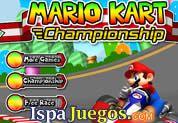 Juego de Mario Kart Championship | JUEGOS GRATIS: Mario vuelve con esta gran carrera donde el mejor premio es la copa, conduce con velocidad y gana a todos tus amigos, ten cuidado de las vueltas y activa el turbo cuando veas que sea necesario