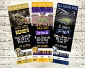 Football Ticket Invitations LSU Saints Cowboys Alabama Ravens Razorbacks Any Team You Want