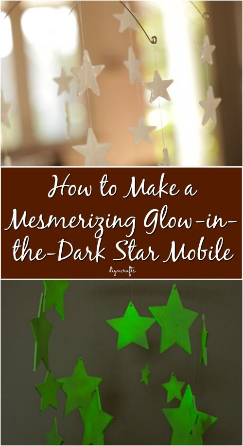 How to Make a Mesmerizing Glow-in-the-Dark Star Mobile {Video}
