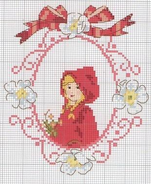 little red riding hood cross stitch chart.