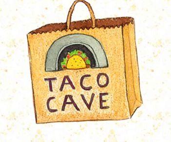 Make goodie bags look like Taco Cave bag