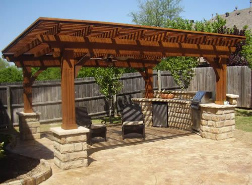 Pergola with built in BBQ