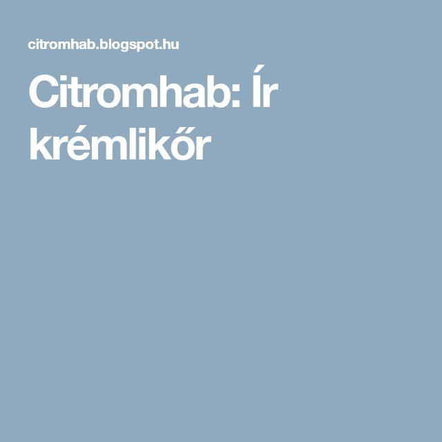 Citromhab: Ír krémlikőr