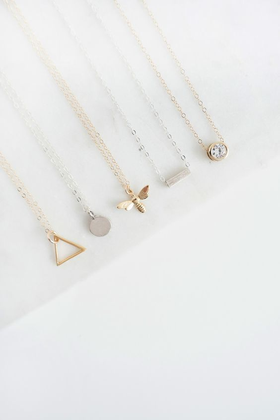 Who said minimalism has to be boring? Bold designs are great for making a statement but if you're looking for style to outlast the seasonal trends, minimal geometric jewellery is the key to making a statement without being over the top. It's all about using those smooth lines and sharp edges to create a striking appearance. A few jewellery pieces – an every occasion necklace, a simple pair of ear… ** Learn more by visiting the image link. #topjewelry