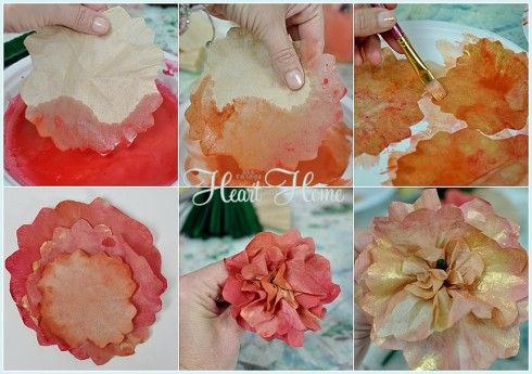How to make a Coffee Filter Pumpkin! - All Things Heart and Home
