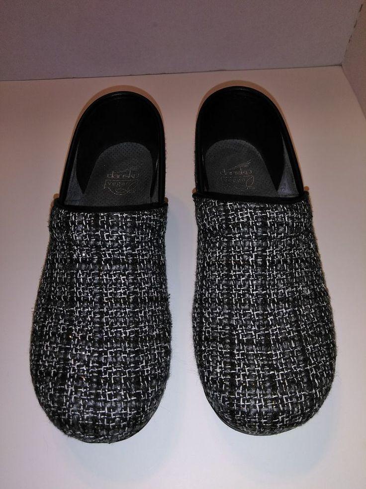 Women's Dansko Felt Pro Black Textured Casual Professional Clogs size 40 US 9.5 #Dansko #Clogs #WeartoWork