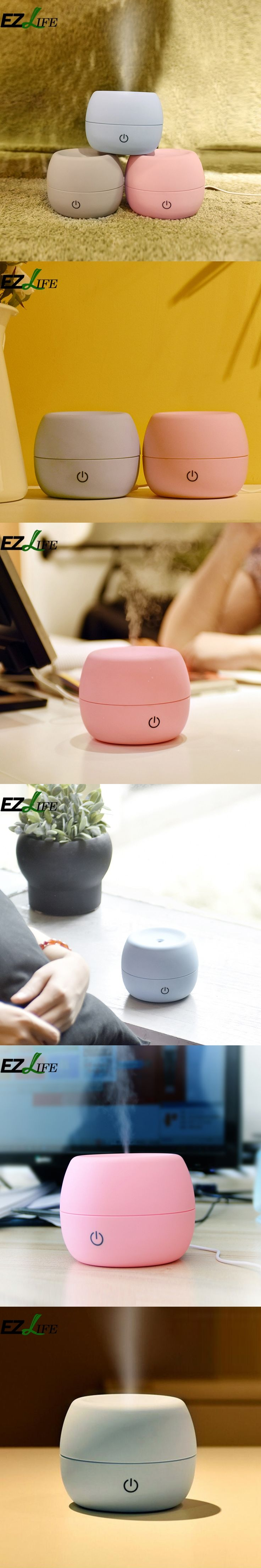 New EZLIFE Colorful Air Humidifier Mini Portable Air Refreshing Humidifier Brumizador Esencial Air Freshener For Homes WX0106