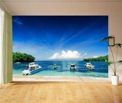 Plaj Açık Manzara Resimli Duvar Kağıdı