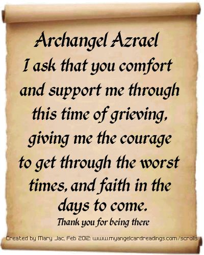 Archangel Azreal...Archangel Prayers and Messages on Parchment Scrolls