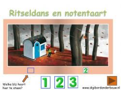 Digibordles: Ritseldans en notentaart Welk huisnummer ontbreekt. http://digibordonderbouw.nl/index.php/themas/herfst/ritseldans