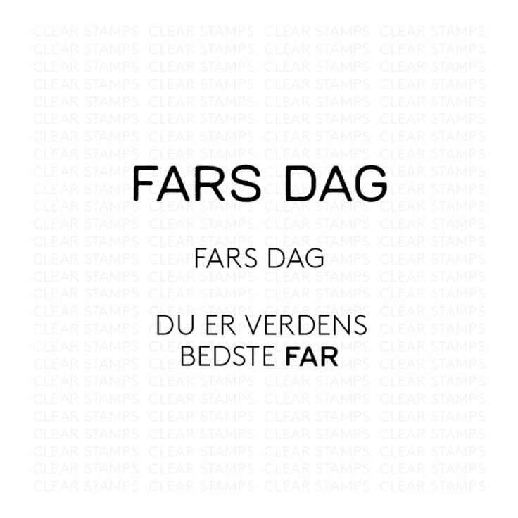 Fars dag - Three scoops stempel