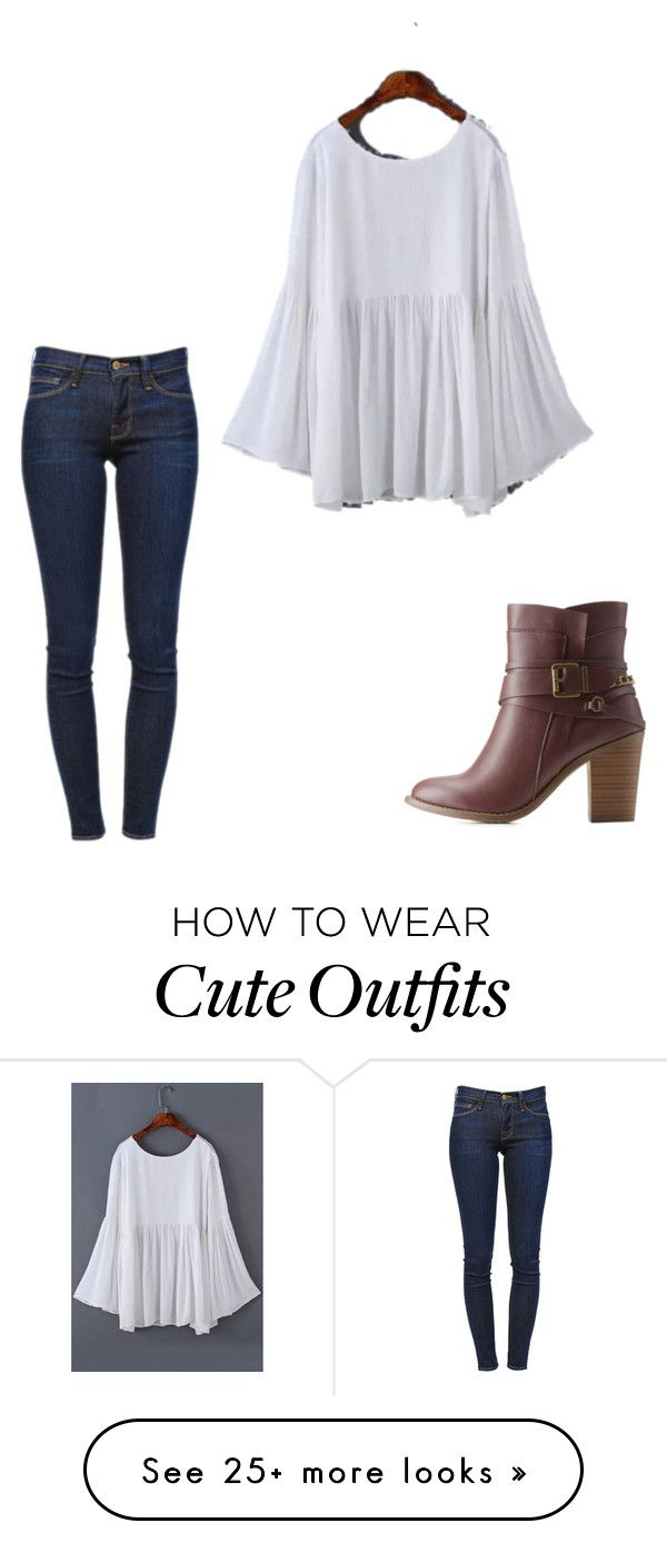"""""""Cute fall outfit"""" by caligirl43 on Polyvore featuring Frame Denim and Charlotte Russe"""