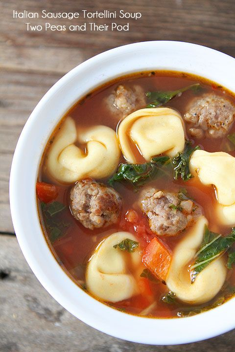Italian Sausage Cheese Tortellini Soup ~ An Easy & Hearty Soup Recipe