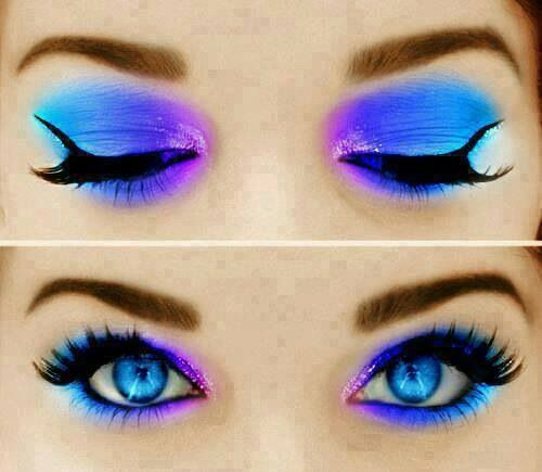 how to turn your eyes purple