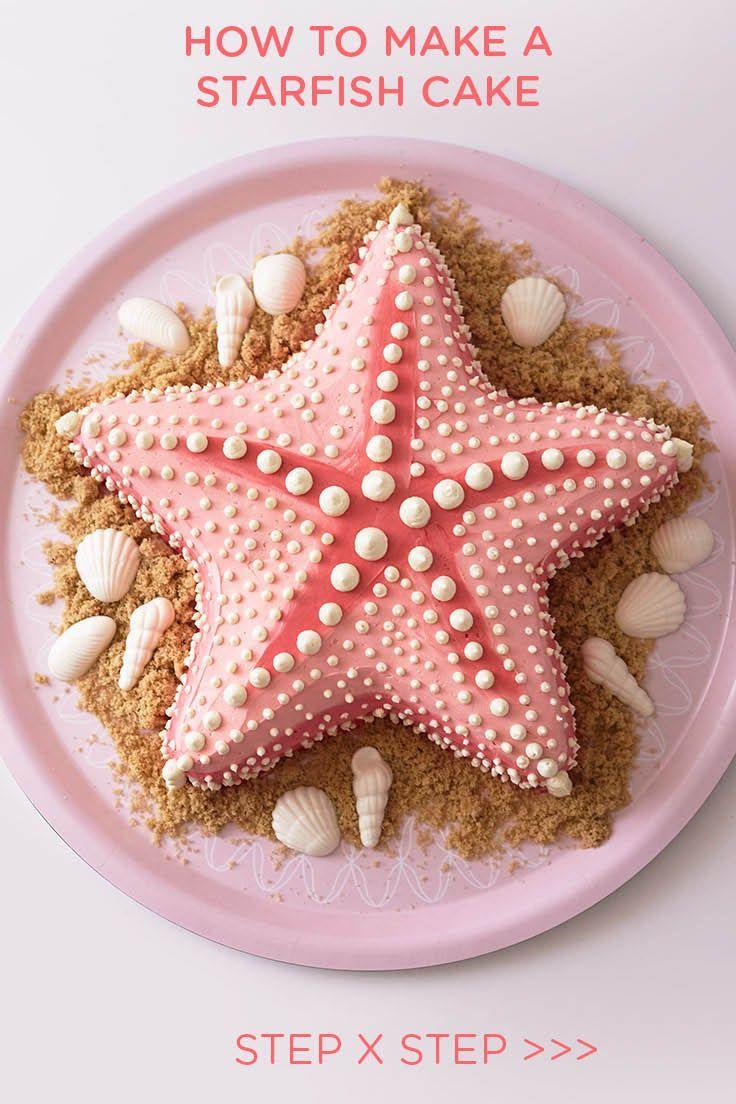 How To Make A Buttercream Starfish Cake