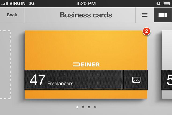 Business card organizer - iphone app concept | Designer: Erik Deiner