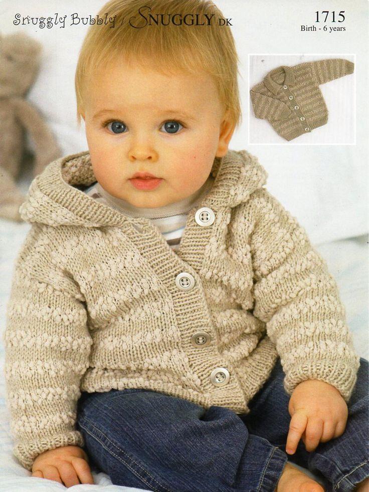 Baby Childs Hooded Jacket Knitting Pattern Pdf Dk Amp Nub