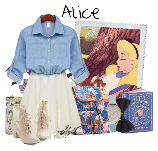 """""""Alice - Spring - Disney's Alice in Wonderland"""" by rubytyra ❤ liked on Polyvore featuring Disney, H&M, Topshop, UNIONBAY, But Another Innocent Tale, Spring, disney, Alice, aliceinwonderland and disneybound"""