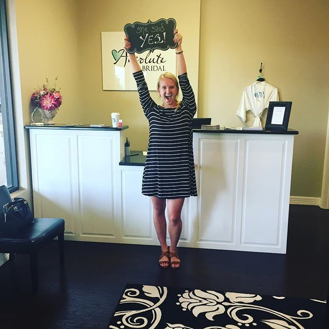 SHE SAID YES!! Congratulations to Olivia Osterlund.... We at Absolute Bridal are so happy for you and wish you all the love in your upcoming marriage!! #shesaidyes #absolutebridalmidland #midlandwedding #dressesofthepermianbasin #happybride #happybridehappylife #bridetobe #tyingtheknot #cheerstothedress #absolutebride #inlovewithlove #happybridehappylifeabsolutebridalmidland #anythingbutordinary #absolutelythedress