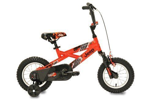12-Inch Boys' Bike With Rugged Steel Frame - Jeep Boy's Bike (12-Inch, Orange/Black) by Jeep. $130.24. Jeep Boy's Bike (12-Inch, Orange/Black)The new 12-Inch Jeep is Trail Rated and ready to go! This rugged bike comes equipped with a real suspension fork that soaks up bumps big or small. A CPSC full wrap chain guard and coaster brake, plus front hand brake ensure safety is always a top priority. Finished in a highly visible glossy orange paint.Trail rated and ready to go...