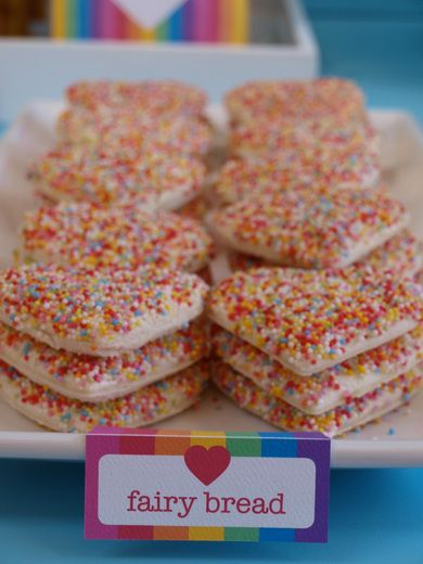 so cute... not sure the Americans know fairy bread?